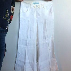 Marciano Wide Leg, Low Rise Linen Pants